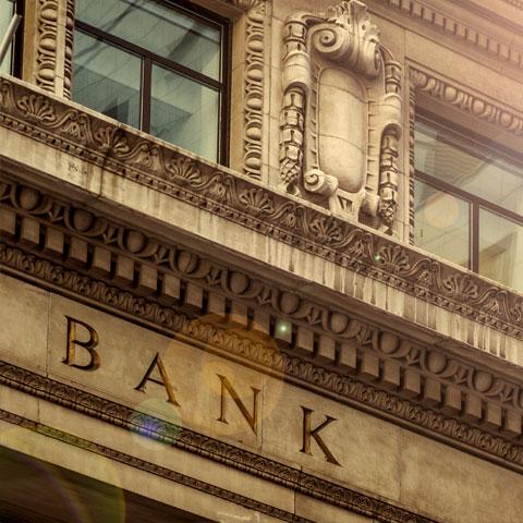 vintage bank building